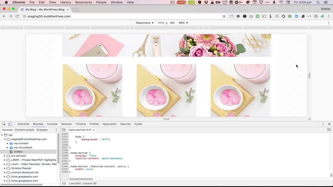 Using Flexbox for displaying widgets in columns - Sridhar