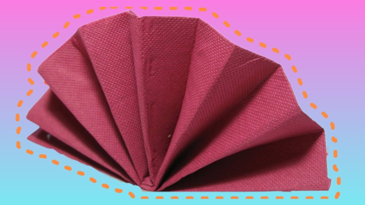 Folding Table Napkins : Table Decoration: Standing Fan Napkin Fold Tutorial - YouTube