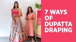 7 NEW Ways of Draping a Dupatta on Lehenga | How to Wear Dupatta