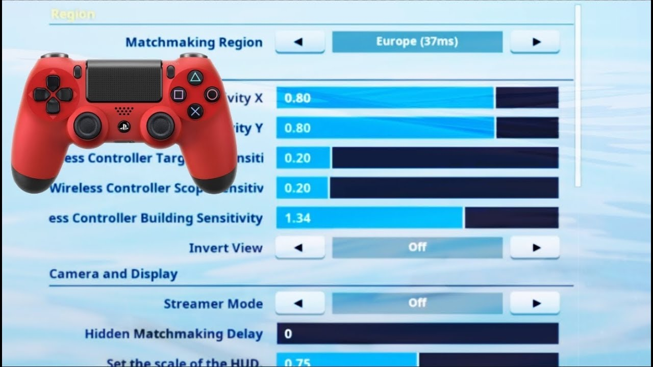 Best Controller Settings For Good Aim and Fast Building (Fortnite Battle Royale)
