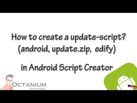 How to create a update-script? - Android Script Creator