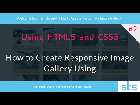 How to create responsive image gallery using html5 and css3 | Part 1 of 2