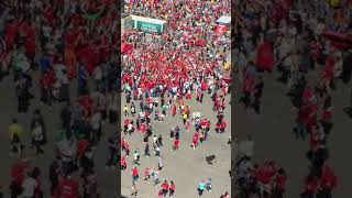 Morocco Fans in front of Luzhniki Stadium (World Cup 2018)