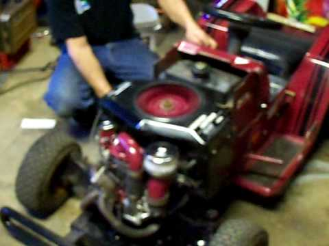 completed turbo charged racing lawn mower