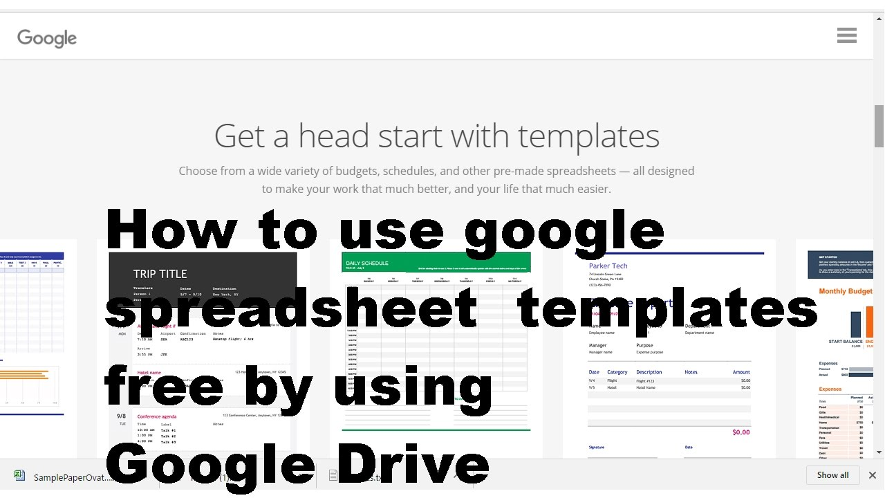 How To Use Google Spreadsheet Templates Free In Template - Free google sheets templates
