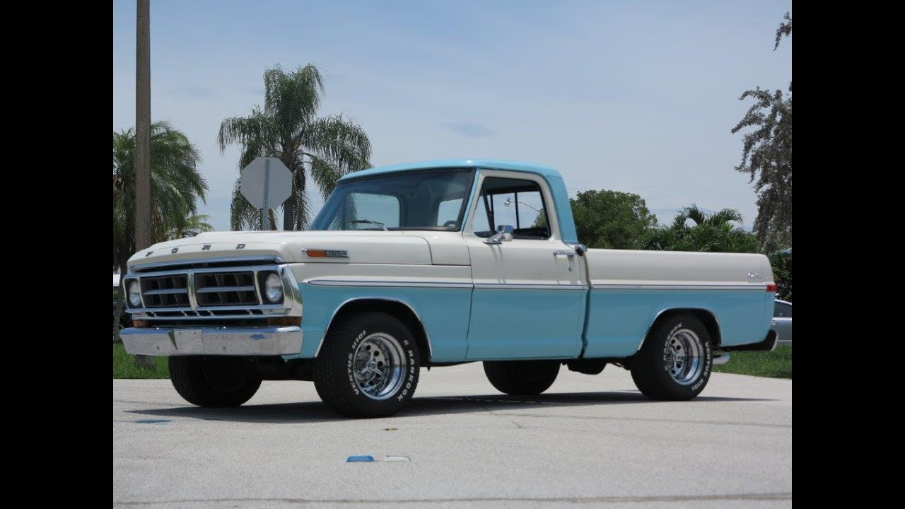1971 Ford F100 Short Bed Youtube 1961