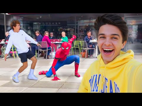 SPIDERMAN PRANK IN REAL LIFE ON FRIENDS!!