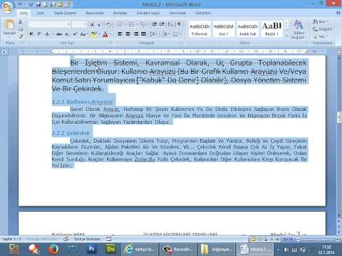 Microsoft Office Word 2007 Temel Kavramlar,Giriş Menüsü