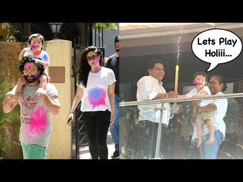 Taimur Ali Khan Enjoying Holi With Mom Kareena Kapoor & Papa Saif Ali Khan Mp3