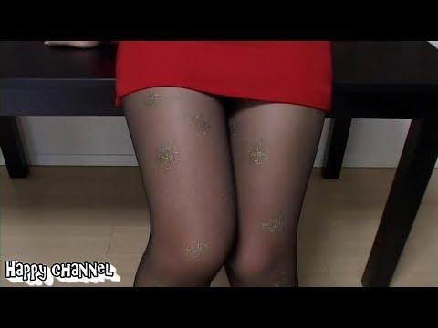 パンチら!セクシーな奥さんの挑発がすごい♪Pantyhose Miniskirt/팬티 스타킹 미니 스커트