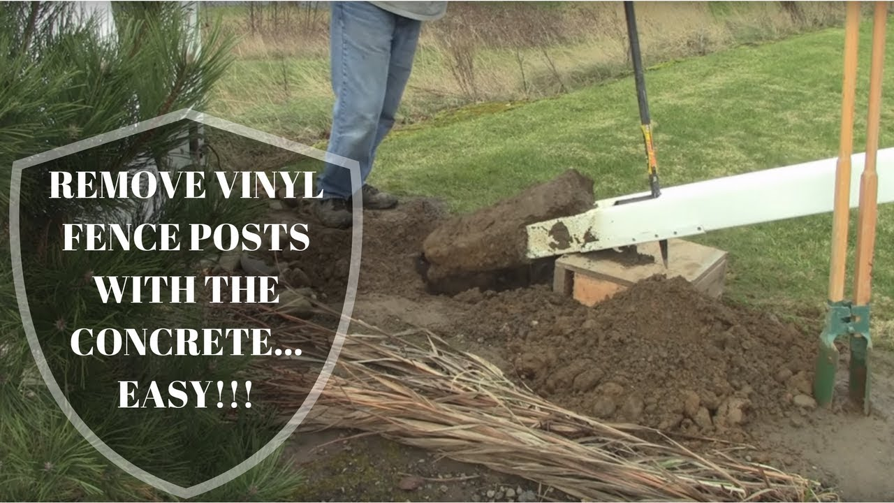 Remove Vinyl Fence Posts With Concrete Super Easy Youtube