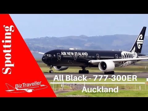 All Black - 777-300ER Air NZ Departure To Nadi, Fiji From Auckland