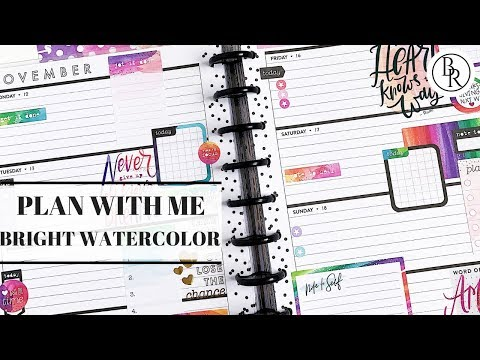 Plan with Me: Bright Watercolor | Plans by Rochelle