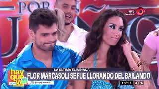 Flor Marcasoli habla después de su eliminación del Bailando