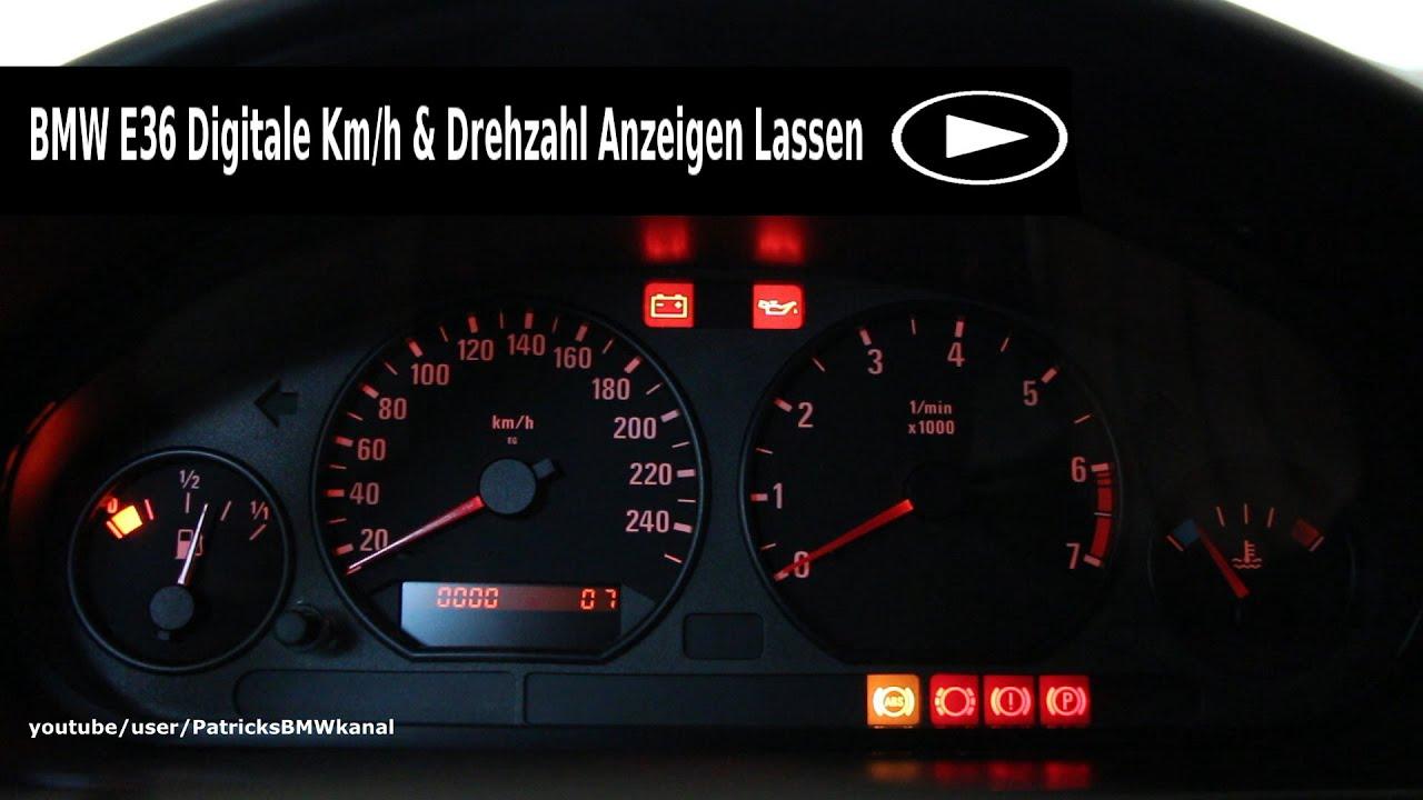 Bmw E36 Digitale Km H Amp Drehzahl Anzeigen Lassen Youtube