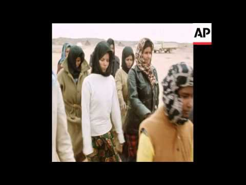 SYND 9 1 76 SCENES AT POLISARIO AREA
