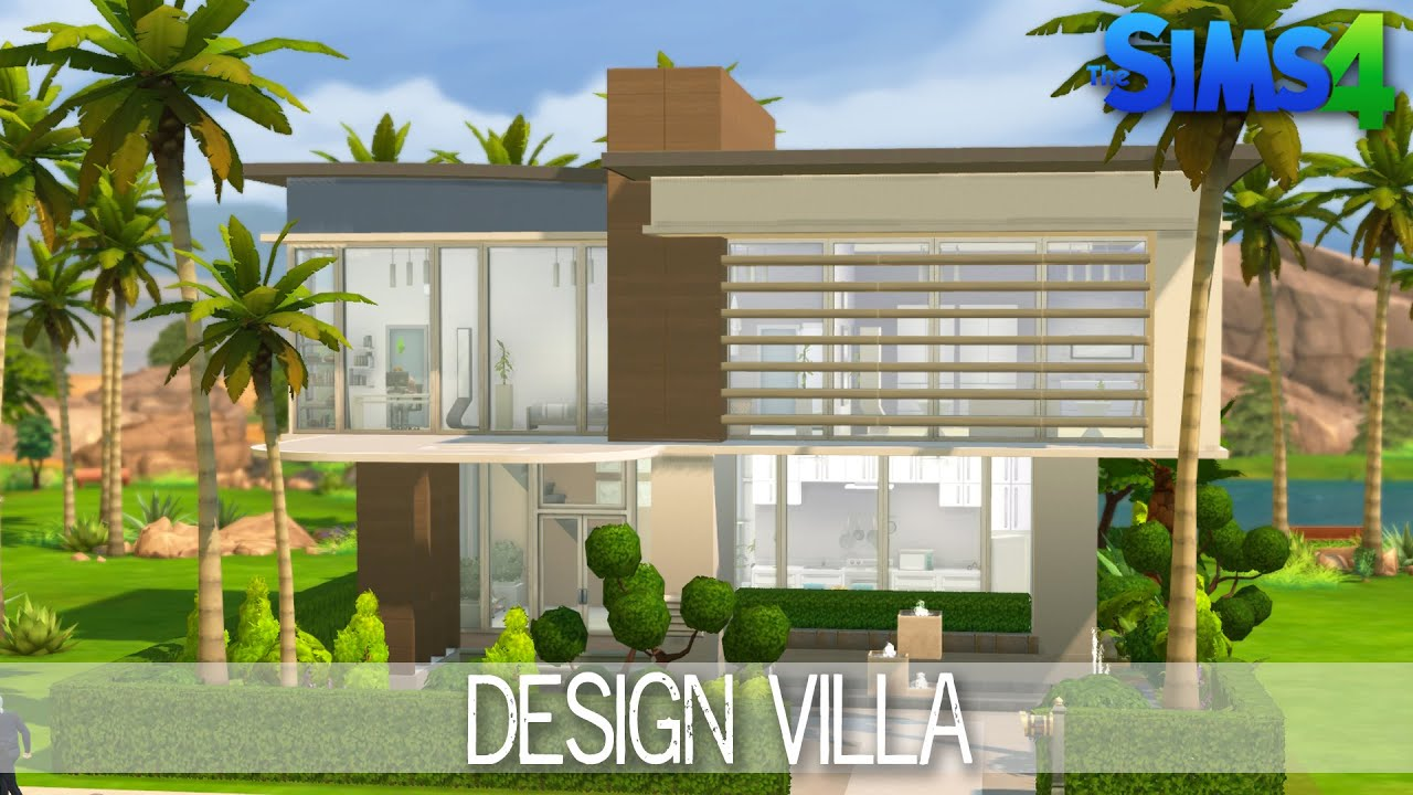 The Sims 4 House Building - Design Villa - Speed Build - YouTube