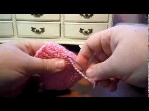 Seaming Together Knitted Baby Bootie