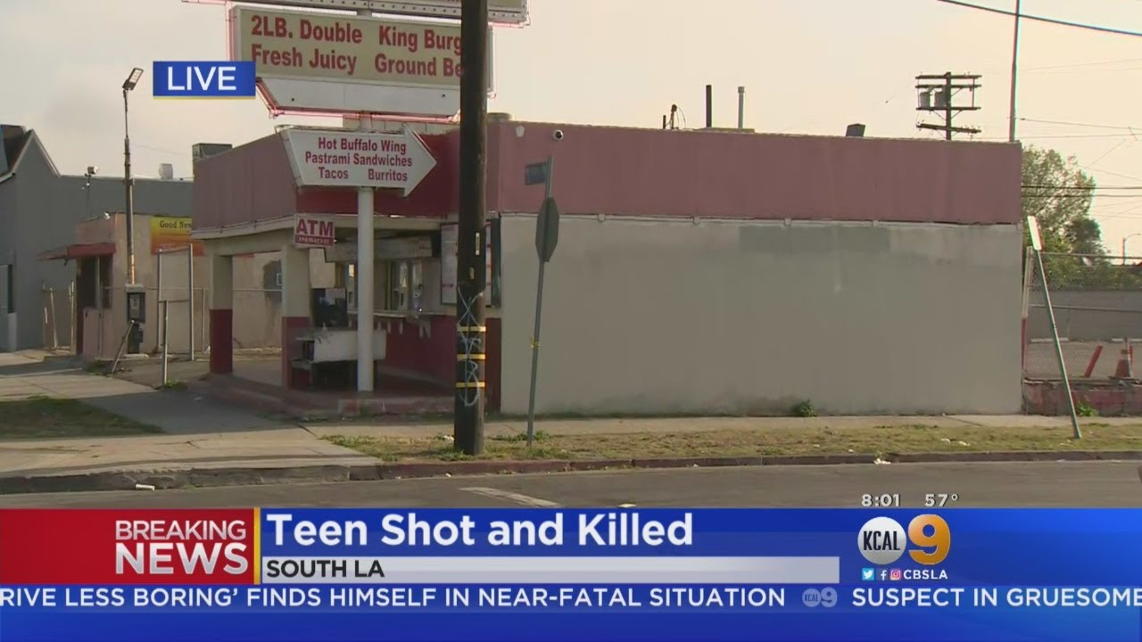 Girl, 15, Shot To Death Outside Burger Stand In South LA