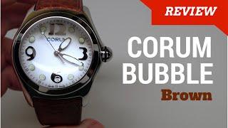 (4K) CORUM BUBBLE XL MEN'S WATCH REVIEW MODEL: 163-150-20-0F02EB30R