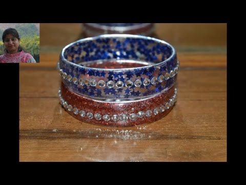 How to make bangles with plastic bottle diy craft best for Craft using waste bangles