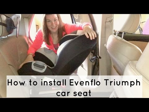 Evenflo tribute lx convertible car seat installation manual