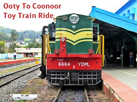 Ooty To Coonoor TOY TRAIN Journey During Monsoon - Nilgiri Mountain Indian Railways