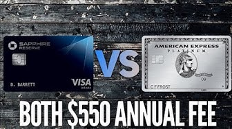 Amex Platinum VS Chase Sapphire Reserve 2020 Comparison