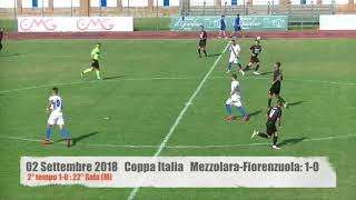 02.09.2018 COPPA ITALIA: Mezzolara - Fiorenzuola: 1-0