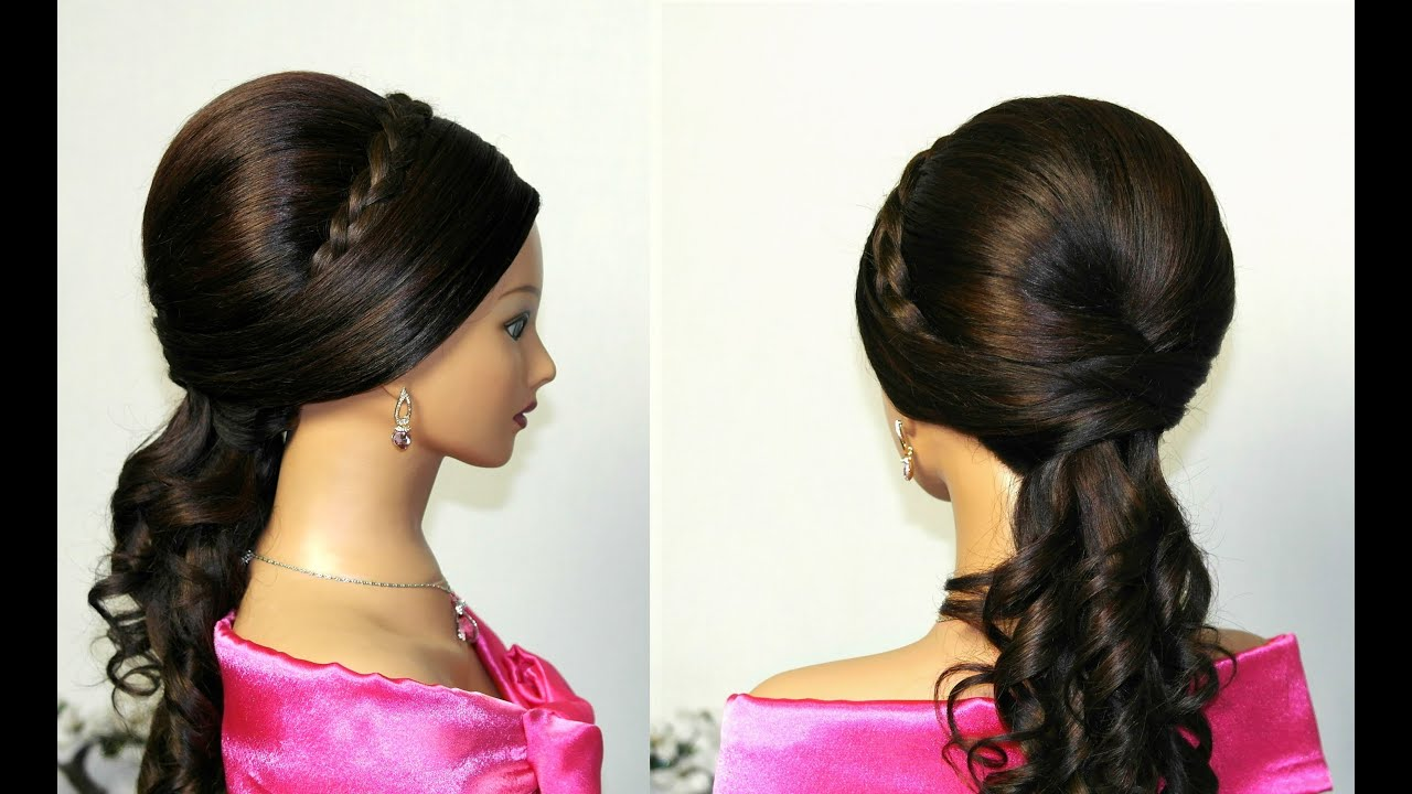 Simple Hairstyles For Long Hair Youtube : Curly wedding prom hairstyles for long hair. - YouTube