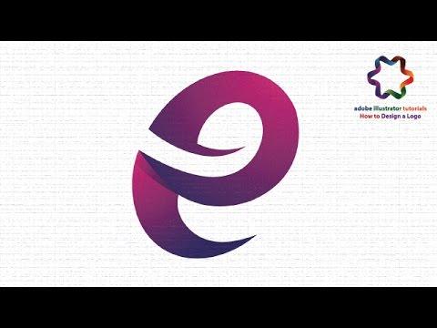 adobe illustrator cs6 create letter logo design custom letter e