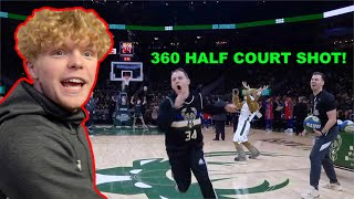 I Performed At A NBA Game! $10,000 Half Court Shot!