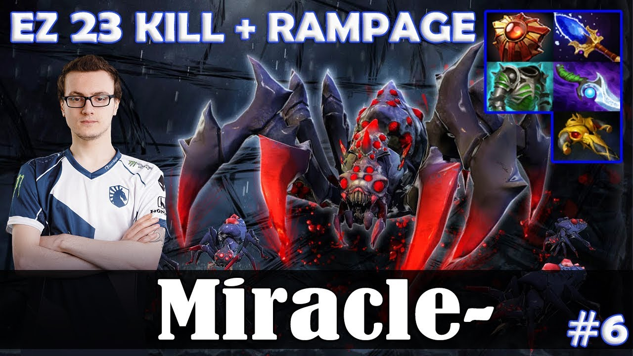 Miracle – Broodmother MID | EZ 23 KILL + RAMPAGE | Dota 2 Pro MMR Gameplay #6