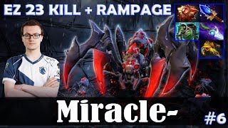 Miracle - Broodmother MID | EZ 23 KILL + RAMPAGE | Dota 2 Pro MMR Gameplay #6