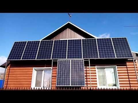 Солнечные панели в помощь отопление дома