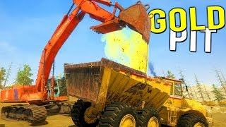 NEW GOLD MINING PIT! DIGGING DEEP FOR THE MOST GOLD - Gold Rush Full Release Gameplay