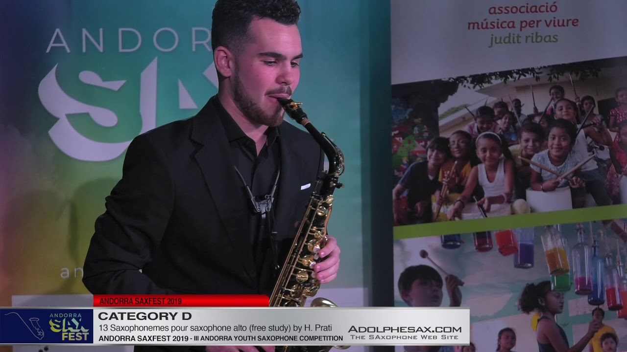 Andorra saxfest 2019 - Youth Competition - Diego García Vargas  - 13 Saxophonemes