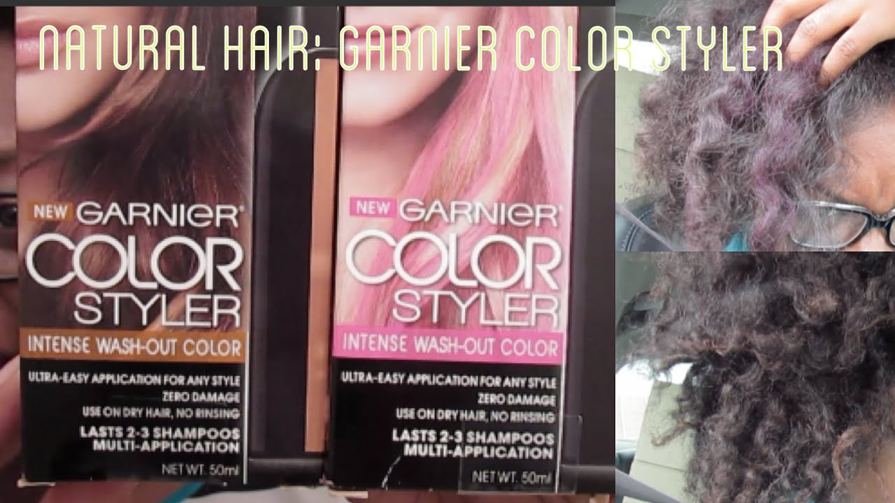 Natural Hair Garnier Color Styler Pink Pop Bronze Attitude