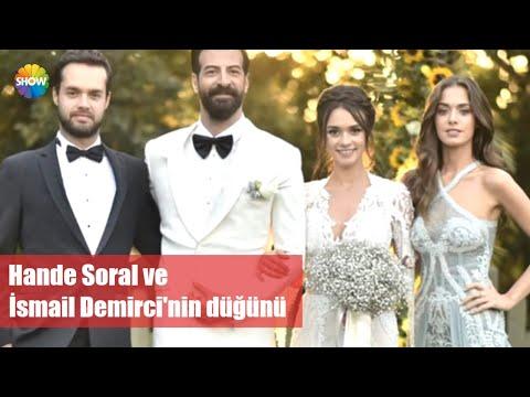 Hande Soral Ve İsmail Demirci'nin Düğününden Görüntüler