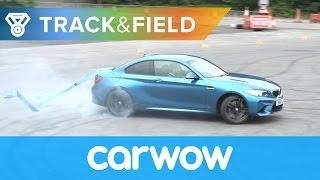 Drift Gymnastics: BMW M2 vs Honda Civic Type R vs Jeep SRT8 vs Caterham 620S | Track&Field