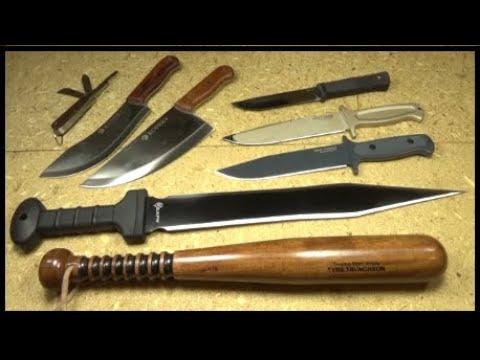 Knife/Gear VLOG #5: Cold Steel Survivalist, Reapr Gladius Machete, Budget Blades, Tire Checker