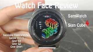 Watch Face Review : SamWatch Sign Cube 4 Samsung Galaxy Watch Gear S3 Gear Sport Gear S2