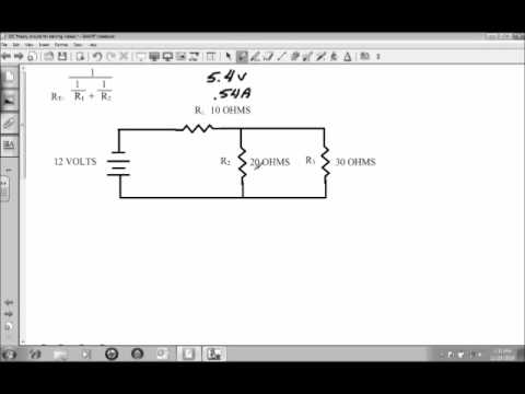 how to find current and voltage in combination circuits
