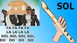 Cover images Meme ataud, flauta dulce fácil, tutorial con animación, coffin dance meme, easy flute recorder