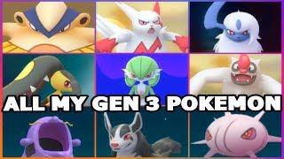 connectYoutube - POKEMON GO ALL MY GEN 3 POKEMON | GARDEVOIR, VIGOROTH, MIGHTYENA, ABSOL & MORE