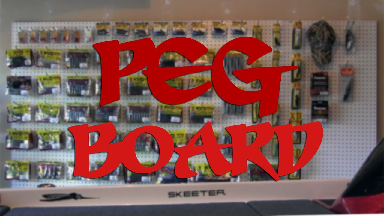 Peg Board Build And Install Fishing Tackle Organization Youtube