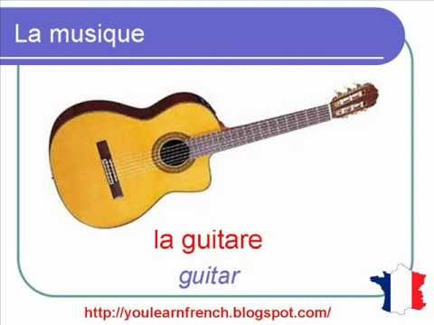French Lesson 119  Music Musical instruments Vocabulary  Musique Vocabulaire  Instrumentos musica