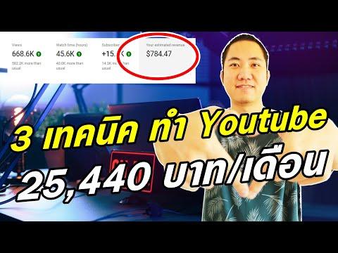 3 เทคนิค สร้างรายได้จาก Youtube 25,440 บาท/เดือน (ทำตามได้เลย)