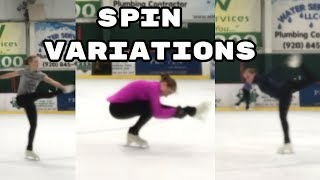 Figure Skating Spin Variations