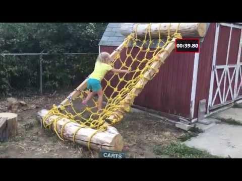 Dad Creates Ninja Warrior Course For Daughter